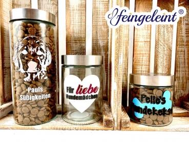 Individuelles Leckerli Glas | Vorratsglas für Leckerlis| Vorratsdose für Hundekekse