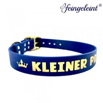 Halsband aus BioThane® | 'Kleiner Prinz' | Blau & Gold | 41 - 49 cm