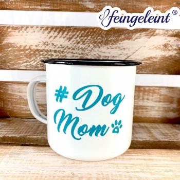 Tasse | Becher aus Emaille | Emaille-Becher '#DogMom'