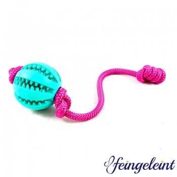 Zahnpflegeball - Dentalball   Naturkautschuk   mit Tau   Pink   Ø 7 cm
