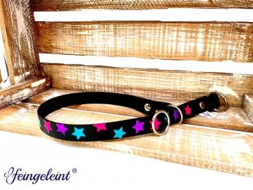 Zugstopp Halsband aus BioThane® | 'Sternenzauber | 35 - 44 cm