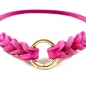 Mobile Preview: Markenhalsband pink gold